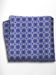 Blue, Grey and Black Patterned Silk Pocket Square | Italo Ferretti Spring Summer Collection | Sam's Tailoring