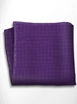 Violet and Black Polka Dot Silk Pocket Square | Italo Ferretti Spring Summer Collection | Sam's Tailoring
