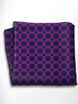 Blue and Violet Silk Pocket Square | Italo Ferretti Spring Summer Collection | Sam's Tailoring