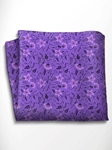 Lilac and Violet Floral Patterned Silk Pocket Square | Italo Ferretti Spring Summer Collection | Sam's Tailoring
