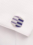 Blue and White Cufflink | Robert Talbott Spring 2017 Collection | Sam's Tailoring