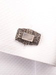 Marcasite/Stone Cufflink | Robert Talbott Spring 2017 Collection | Sam's Tailoring