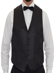 Black with Gold Metallic Pin Dots 6 Button Vest | Robert Talbott Formal Wear   | Sam's Tailoring