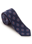 Navy With Red and Blue Sudbury 7 Fold Tie  | Robert Talbott Spring 2017 Collection | Sam's Tailoring