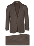 Brown Chalk Stripe Super 150's Tasmanian Suit | Hickey Freeman Tasmanian Collection | Sam's Tailoring