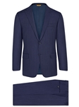Navy Chalk Stripe Super 150's Tasmanian Suit | Hickey Freeman Tasmanian Collection | Sam's Tailoring