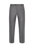 Grey Twill Wool Silk Flat Front Trouser | Hickey Freeman Summer Blends Collection | Sam's Tailoring