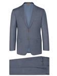 Silver Blue Sharkskin Summer Wish Suit | Hickey Freeman Summer Blends Collection | Sam's Tailoring