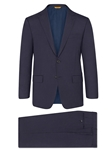 Navy Micro Check 160's Super Merino Suit | Hickey Freeman Super Merino Collection | Sam's Tailoring