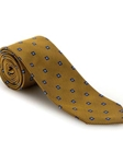 Lemon and Blue Medallion Best of Class Extra Long Tie | Robert Talbott Spring 2017 Collection | Sam's Tailoring