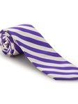 Purple and White Stripe Academy Best of Class Extra Long Tie | Robert Talbott Spring 2017 Collection | Sam's Tailoring