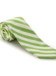 Green and White Stripe Academy Best of Class Extra Long Tie | Robert Talbott Spring 2017 Collection | Sam's Tailoring