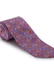 Carnation, Pink and Sky Paisley Best of Class Extra Long Tie | Robert Talbott Spring 2017 Collection | Sam's Tailoring