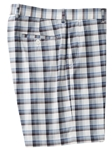 Grey Plaid Flat Front Tech Short  | Bobby Jones Spring 2017  Collection | Sams Tailoring