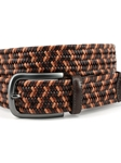 Brown Multi Italian Mini Strand Woven Stretch Leather Belt |  Torino leather Spring 2017 | Sam's Tailoring