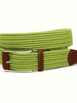 Lime Italian Mini Woven Cotton Stretch Belt |  Torino leather Spring 2017 | Sam's Tailoring