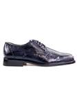 Navy Genuine Ostrich Marco Shoe | Belvedere Spring 2017 Collection | Sams Tailoring