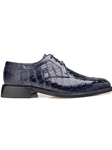 Navy Genuine Crocodile Susa Shoe | Belvedere Spring 2017 Collection | Sams Tailoring