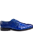 Ocean Blue Genuine Crocodile Colombo Shoe | Belvedere Spring 2017 Collection | Sams Tailoring