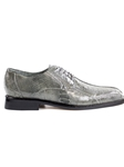 Gray Genuine Ostrich Leather Sole Marco Shoe | Belvedere Spring 2017 Collection | Sams Tailoring