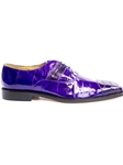Purple Genuien Eel and Ostrich Mare Shoe | Belvedere Spring 2017 Collection | Sams Tailoring