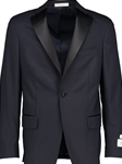 Navy Super 110'S Worsted Wool Performance Tuxedo Jacket | HardWick New Coat | Sams Tailoring Fine Men Clothing