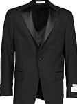 Black Super 110'S Worsted Wool Performance Tuxedo Jacket | HardWick New Coat | Sams Tailoring Fine Men Clothing