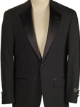Black Wool Notch Lapel Classic Fit Tuxedo Jacket | HardWick Tuxedos Collection  | Sams Tailoring Fine Men Clothing