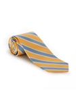 Yellow, Blue and White Stripe Heritage Best of Class Tie | Spring/Summer Collection | Sam's Tailoring Fine Men Clothing