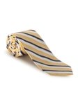 White & Blue Stripe on Yellow Boardroom Best of Class Tie | Spring/Summer Collection | Sam's Tailoring Fine Men Clothing