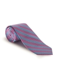 Sky & White Stripe on Pink Boardroom Best of Class Tie | Spring/Summer Collection | Sam's Tailoring Fine Men Clothing