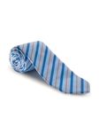 Red & Blue Stripe on Sky Seasonal Best of Class Tie | Spring/Summer Collection | Sam's Tailoring Fine Men Clothing