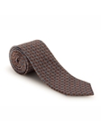 Brown, Turquoise and Pink Carmel Print Best of Class Tie | Spring/Summer Collection | Sam's Tailoring Fine Men Clothing