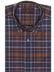 Navy & Brown Plaid Anderson II Classic Fit Sport Shirt | Robert Talbott Fall 2017 Collection  | Sam's Tailoring