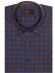 Brown & Navy Twill Check Anderson II Classic Sport Shirt | Robert Talbott Fall 2017 Collection  | Sam's Tailoring