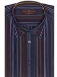 Navy, Brown & Blue Stripe Anderson II Classic Fit Sport Shirt | Robert Talbott Fall 2017 Collection  | Sam's Tailoring
