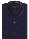 Navy with Pine Crespi IV Tailored Sport Shirt | Robert Talbott Fall 2017 Collection  | Sam's Tailoring
