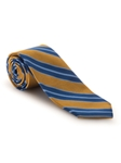 Gold, Navy and Sky Blue Stripe Best of Class Tie | Fall Ties Collection | Sam's Tailoring Fine Men Clothing
