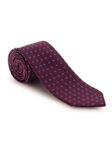 Red and Navy Geometric Best of Class Tie | Fall Ties Collection | Sam's Tailoring Fine Men Clothing