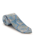 Blue, Gold and Orange Paisley Best of Class Tie | Fall Ties Collection | Sam's Tailoring Fine Men Clothing