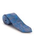 Blue, Brown and Navy Paisley Best of Class Tie | Fall Ties Collection | Sam's Tailoring Fine Men Clothing