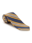 Gold, Navy, Sky and white Stripe Amalfi Best of Class Tie | Fall Ties Collection | Sam's Tailoring Fine Men Clothing