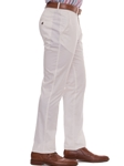 White Lucas Extended Tab Trouser | Robert Talbott Fall Collection | Sam's Tailoring Fine Men's Clothing