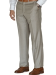 Khaki Laguna Flat Front Dress Trouser | Robert Talbott Fall Collection | Sam's Tailoring Fine Men's Clothing
