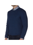 Indigo Lawton Crew Neck Sweater | Robert Talbott Fall 2017 Collection | Sam's Tailoring Fine Mens Clothing