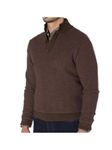 Olive Honeycomb Trevis Stitch Button Mock Neck Sweater | Robert Talbott Fall 2017 Collection | Sam's Tailoring Fine Mens Clothing