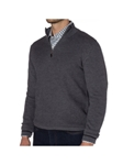 Grey Jacquard 1/4 Zip Mock Neck Jacob Sweater | Robert Talbott Fall 2017 Collection | Sam's Tailoring Fine Mens Clothing