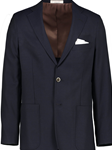 Navy Modern Fit Hopsack Reda Super 110's Wool Blazer | Hardwick Blazer Collection | Sams Tailoring Fine Men Clothing