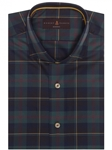 Emerald, Red and Yellow Plaid Modern Fit Sport Shirt | Robert Talbott Sport Shirts Collection  | Sam's Tailoring Fine Men Clothing