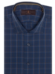 Blue, Brown & Sky Plaid Crespi IV Tailored Sport Shirt | Robert Talbott Sport Shirts Collection  | Sam's Tailoring Fine Men Clothing